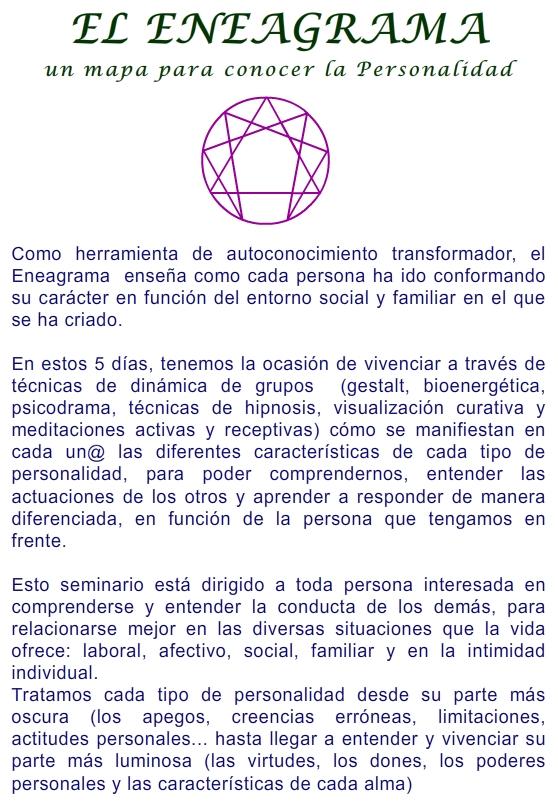 2014 EL ENEAGRAMA 6-10 AGOSTO 1