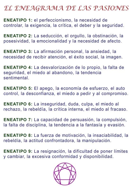 2014 EL ENEAGRAMA 6-10 AGOSTO 2