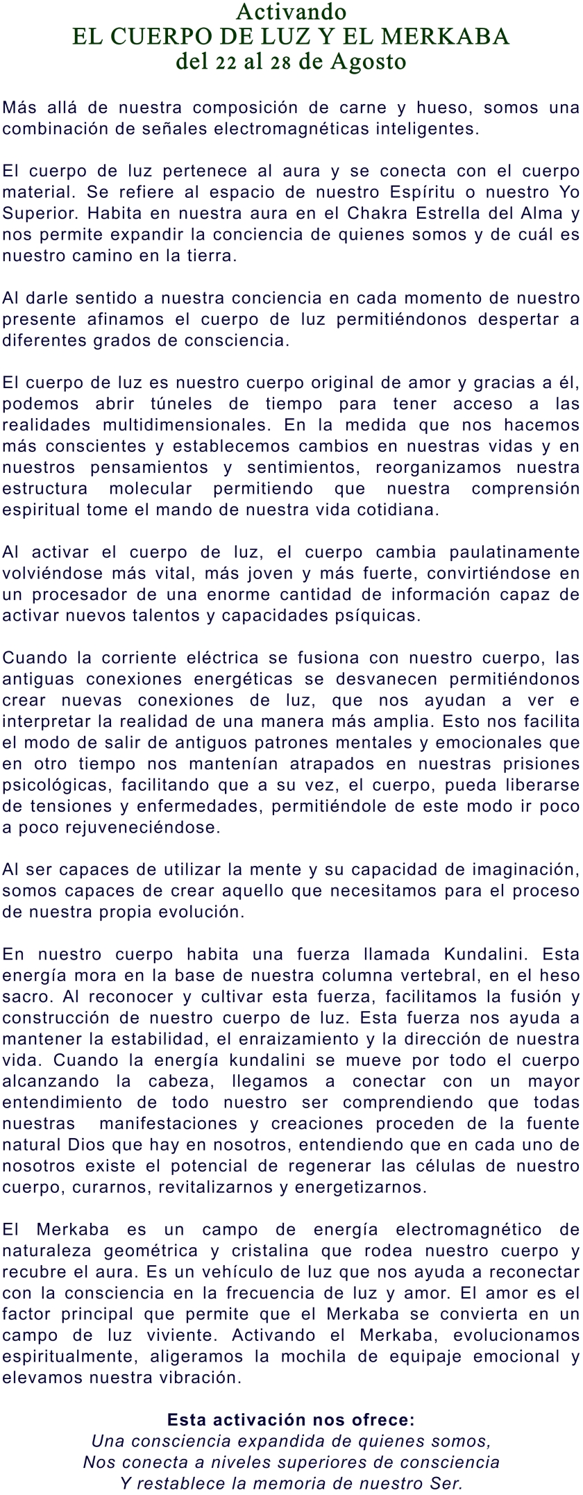 2014 CUERPO DE LUZ Y MERKABA 21-27 AGOSTO 1