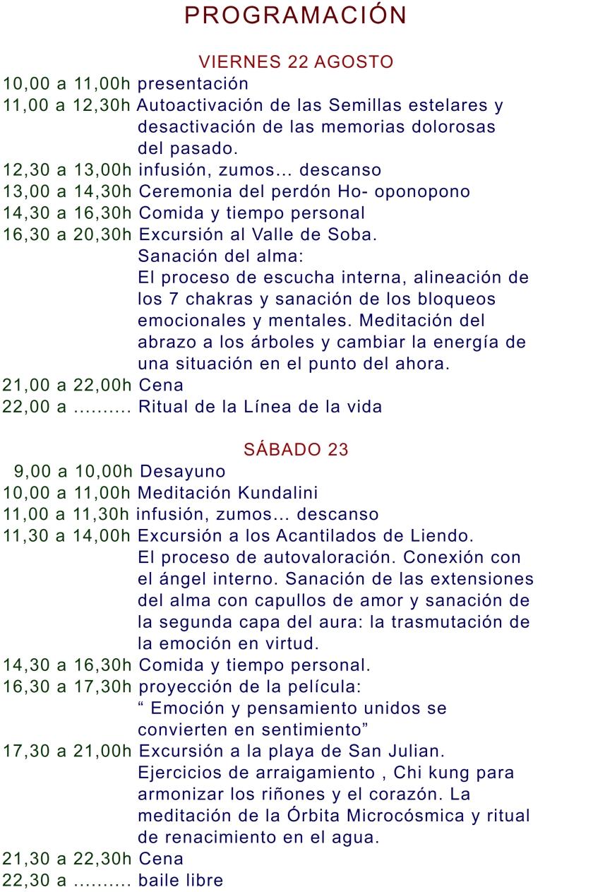 2014 CUERPO DE LUZ Y MERKABA 21-27 AGOSTO 2