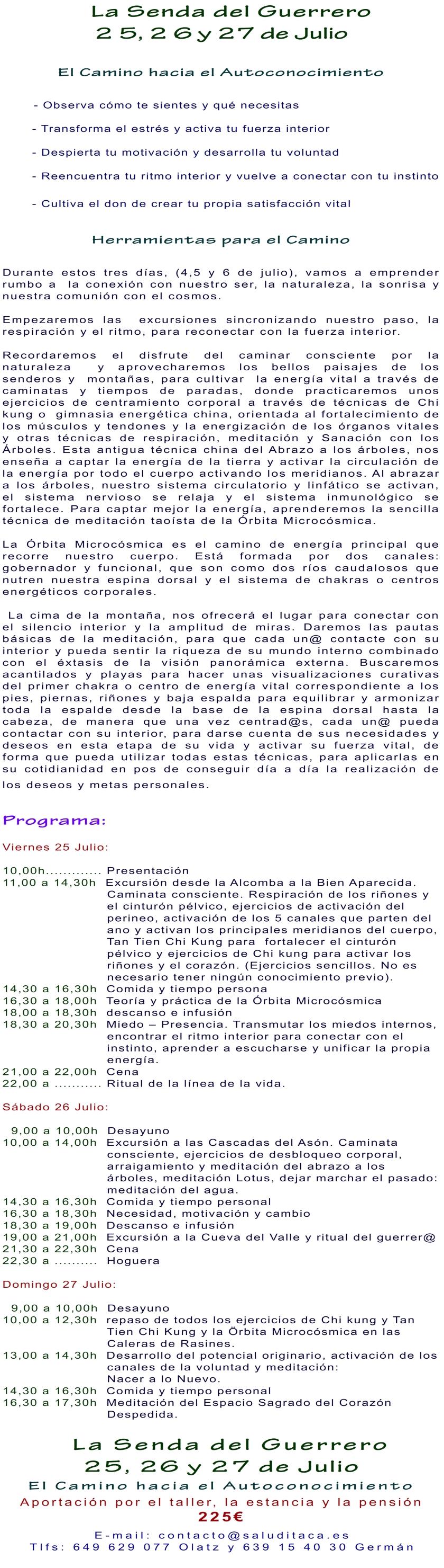 2014 LA SENDA DEL GUERRERO 25-27 JULIO