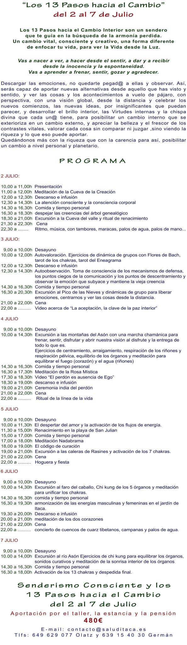 2014 LOS 13 PASOS HACIA EL CAMBIO COMPLETO