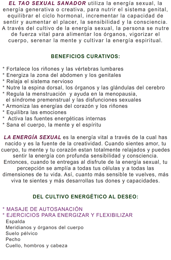 TAO SEXUAL SANADOR FEMENINO 2
