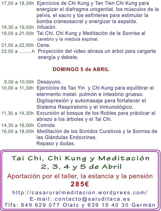 2015 TAI CHI, CHI KUNG 2, 3, 4 y 5 de ABRIL 3