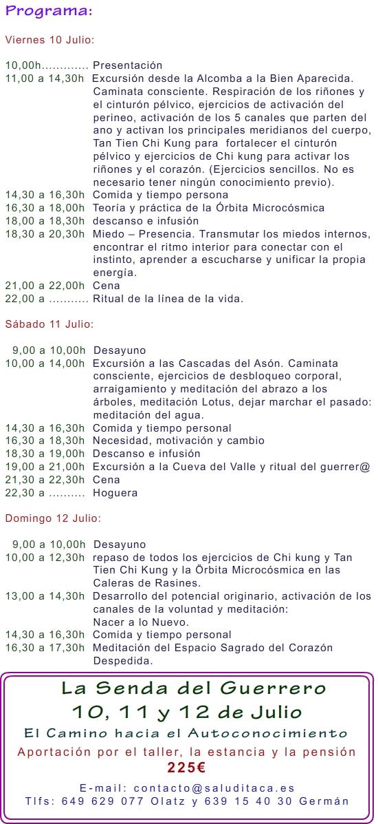 2015 LA SENDA DEL GUERRERO 10, 11 y 12 JULIO 2