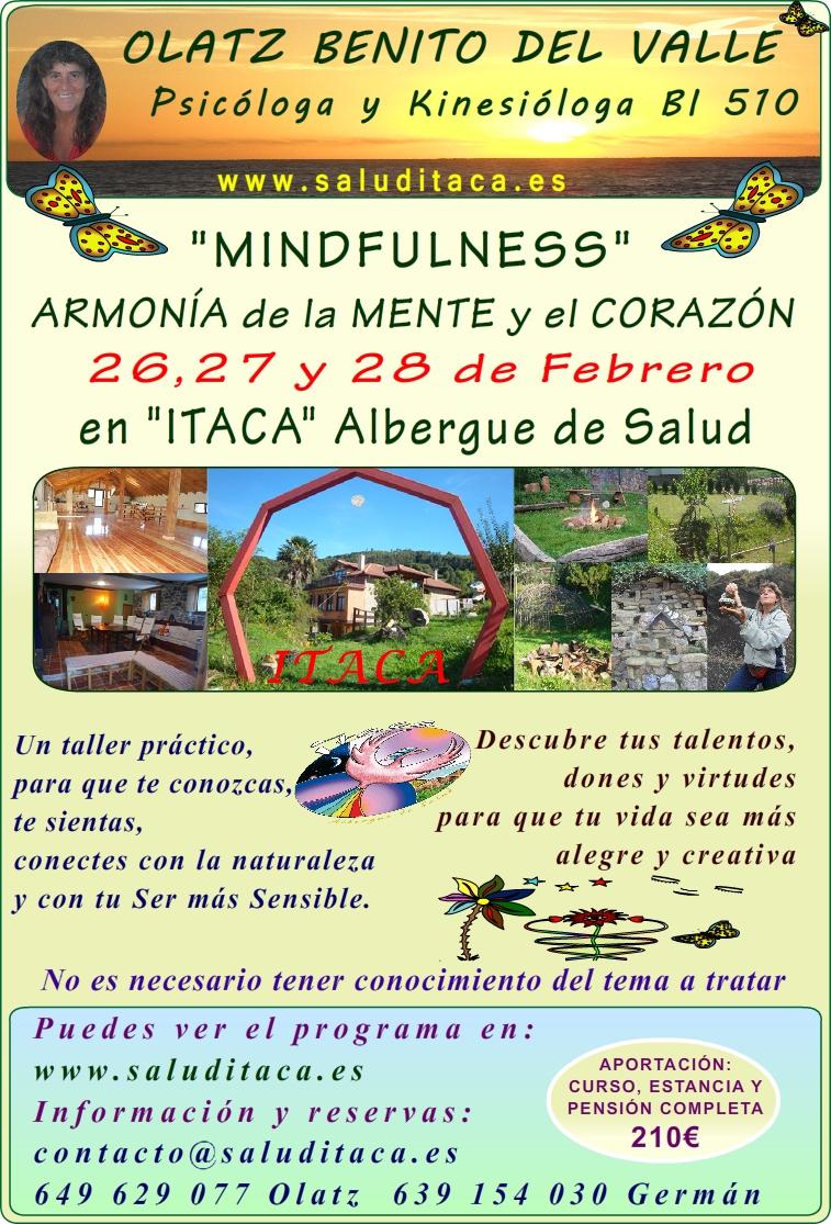 2016 MINDFULNESS ARMONIA MENTE CORAZON cartel