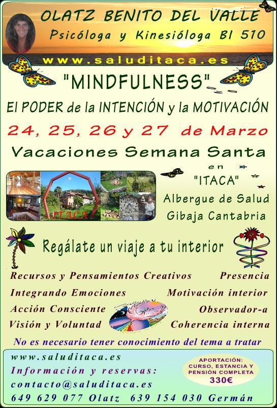 FEBRERO 2016  MINDFULNESS poder intecion motivacion cartel A4