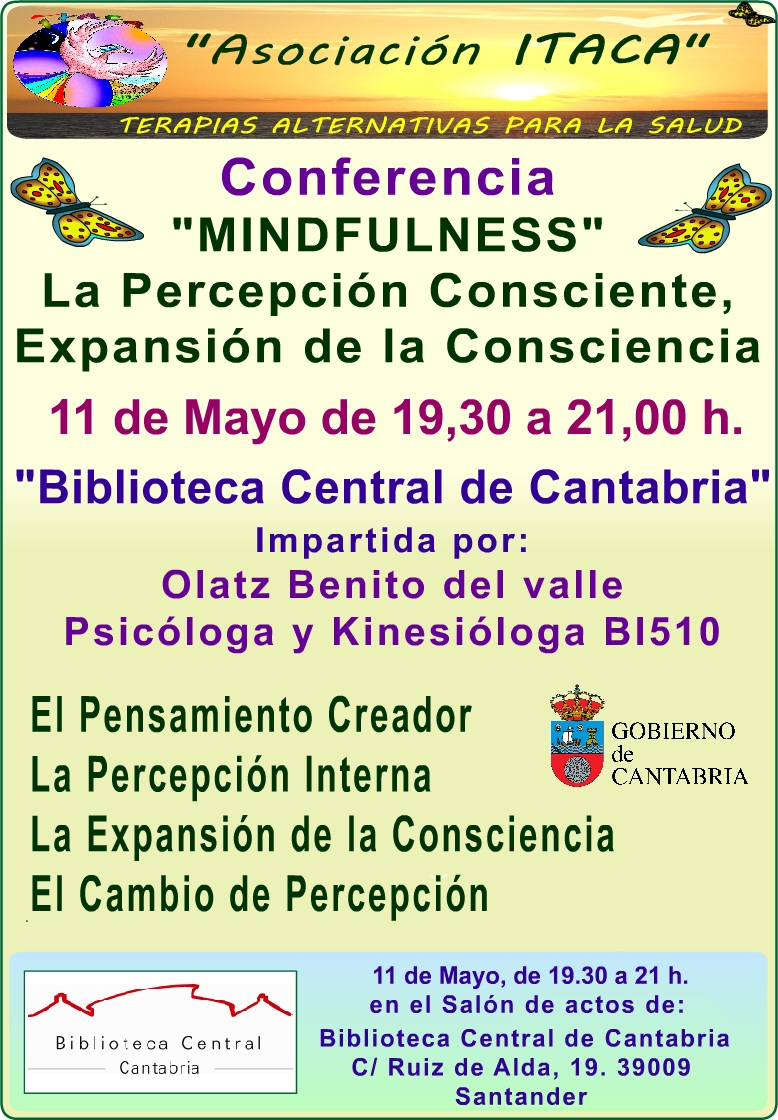 CARTEL A4 conferencia mindfulness cantabria m ayo 2017